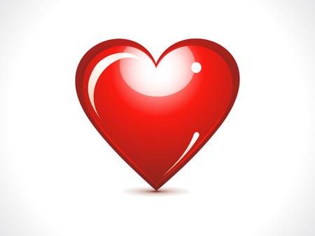 abstract glossy red heart vector illustration Illustration