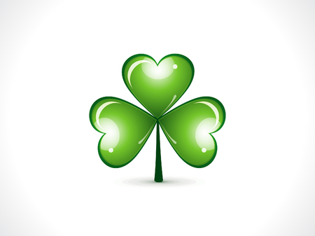 patric day: abstract st patrick clover vector illustration