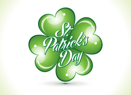 st patric: abstract st patrick clover vector illustration