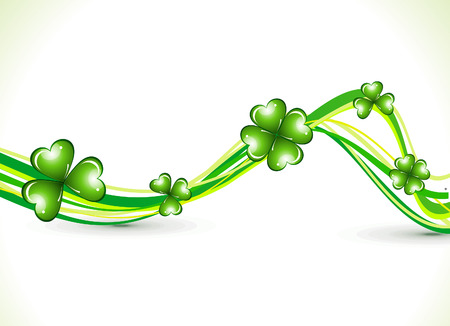 patric: abstract st patrick clover wave vector illustration