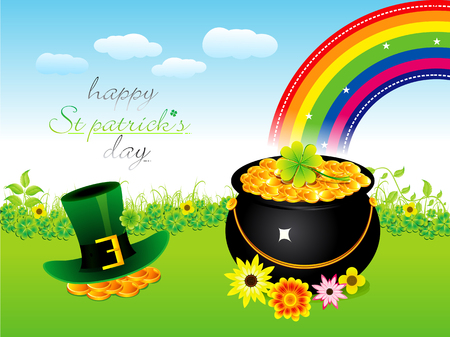 abstract st patrick day background vector illustration