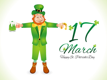 patric day: abstract st patrick day background vector illustration