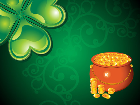 abstract st patrick day background vector illustration Vector