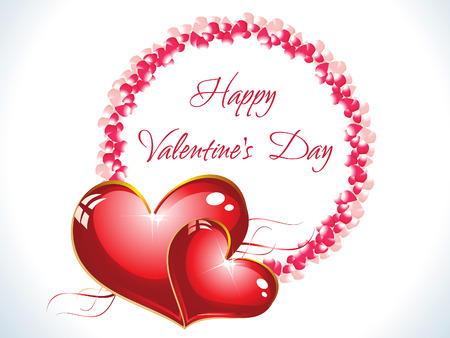 abstract happy valentine day background vector illustration Vector