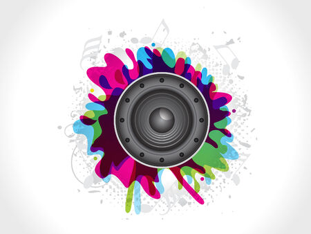 abstract sound explode vector illustration Vector