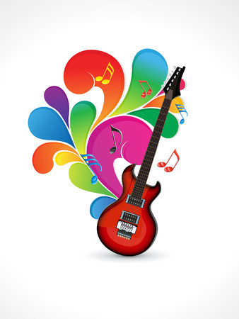 rainbow music: abstract colorful music vector illustration