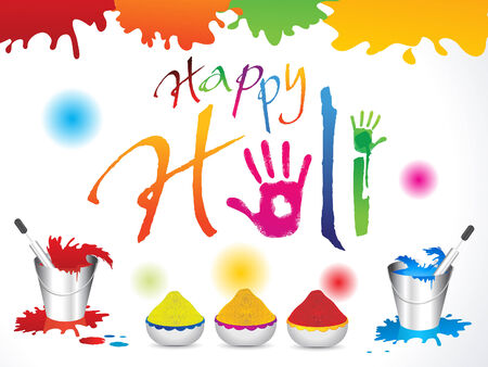 abstract happy holi background illustration Vector