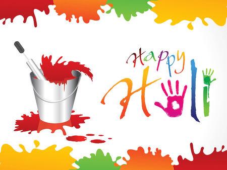 seau d eau: résumé Holi heureux illustration de fond