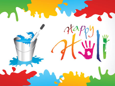 thali: abstract happy holi background illustration