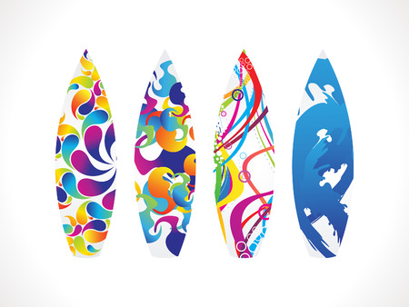 active life: abstract colorful surf board vector illustration Illustration