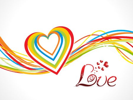 abstract colorful love wave background vector illustration Vector