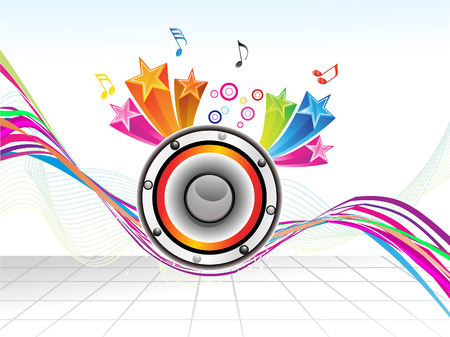 celebrate life: abstract colorful musical background vector illustration