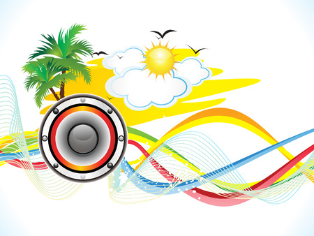 holiday party: abstract summer holiday party background vector illustration