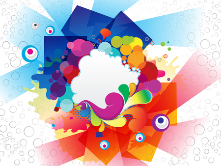 abstract colorful explode background vector illustration Vector
