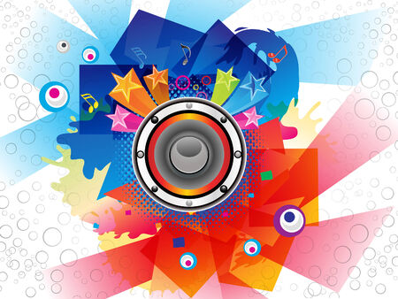 colurful: Abstract Colurful Musical Background Vector illustration Illustration