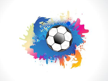colurful: Abstract colurful grunge football vector illustration