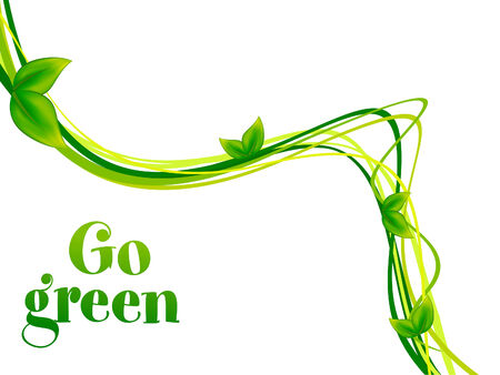 go green: abstract go green background vector illustration
