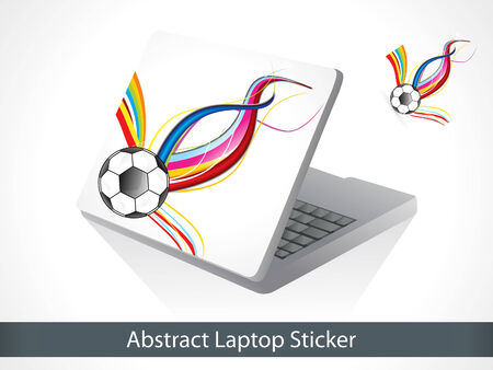 laptop vector: abstract colorful laptop sticker vector illustration