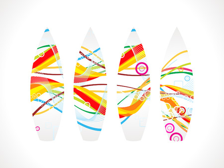 abstract colorful surf board illustration