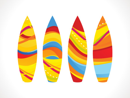 abstract colorful surf board illustration Vector