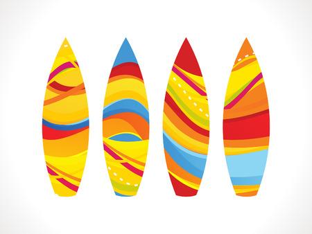 surf board: La ilustraci�n colorida abstracta tabla de surf