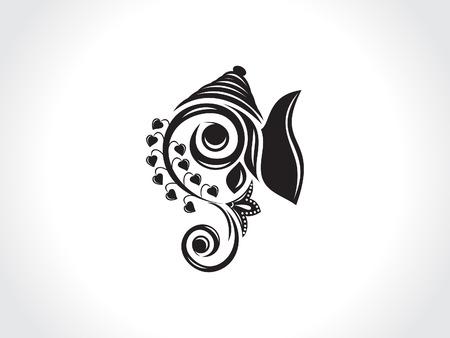 abstract artistic ganesha background illustration