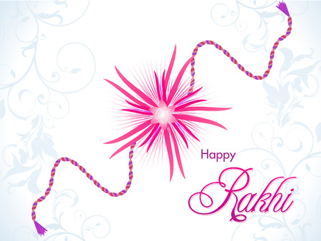 raksha: abstract Raksha Bandhan illustrazione sfondo