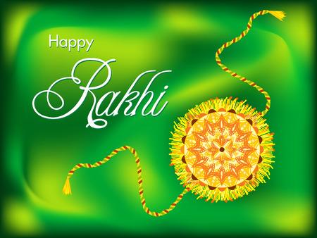 abstract colorful raksha bandhan background vector illustration Vector