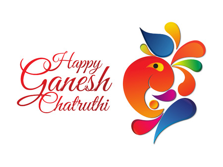 ganesh: abstracto ganesha chaturthi ilustración vectorial