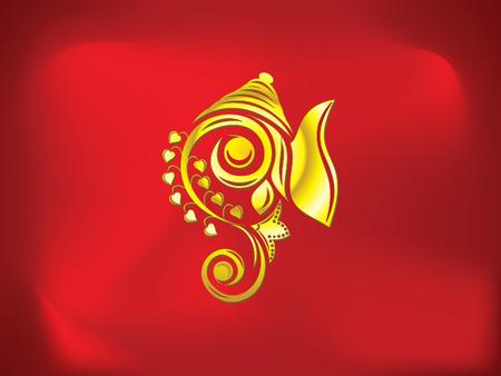 abstract artistic golden ganesha background vector illustration Vector