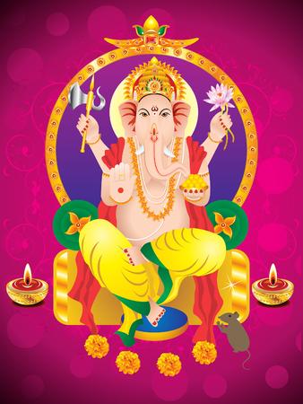 seigneur: Ganesha Chaturthi abstrait fond illustration