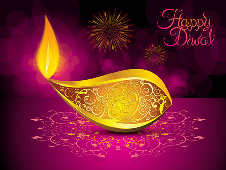 diwali celebration: abstract artistic diwali background vector illustration