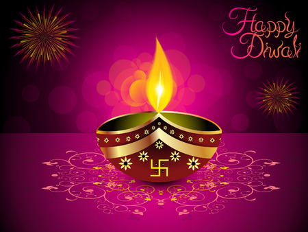 deepawali backdrop: abstract artistic diwali background vector illustration