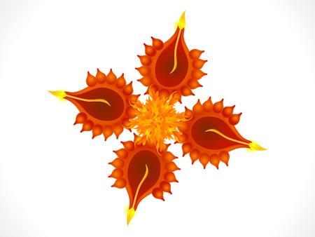 deepawali backdrop: abstract artistic diwali background vector illustration