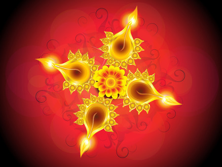 deepawali backdrop: abstract artistic detailed diwali background vector illustration Illustration