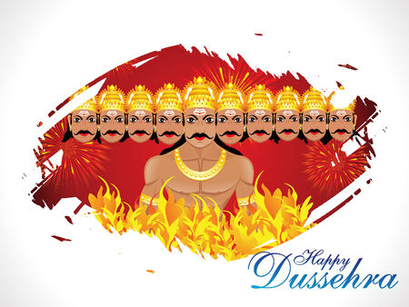 abstract dussehra wallpaper vector illustration Vector