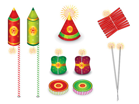 squib: abstract multiple crackers background vector illustration