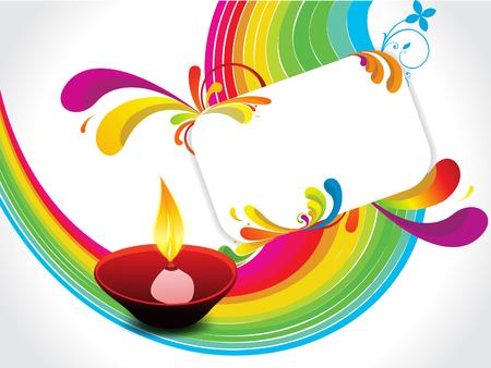 abstract diwali background vector illustration Vector