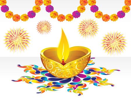 marigold: abstract diwali background vector illustration