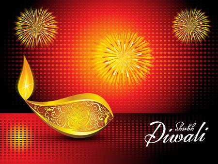 shubh diwali: abstract artistic diwali background vector illustration