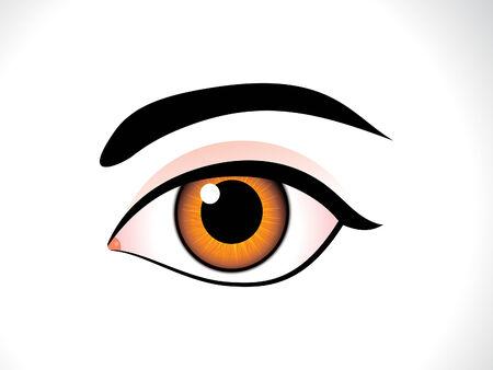 abstract eye: abstract detailed human eye vector illustration