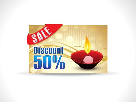 shubh diwali: abstract soil diwali on golden background discount card vector illustration Illustration
