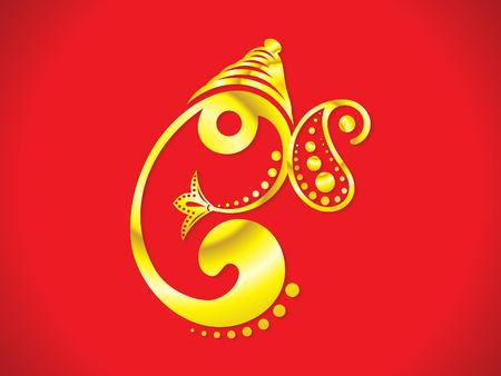 ganesha: abstract artistic golden ganesha vector illustration