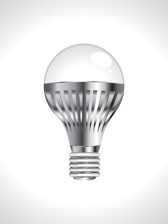 abstract detailed led bulb vector illustration