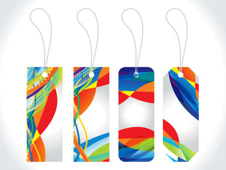 abstract colorful multiple sale tag vector illustration