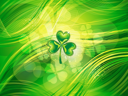 st patric: abstract  st patrick clover background vector illustration