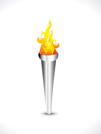 flaming torch: abstract flaming torch vector illustration