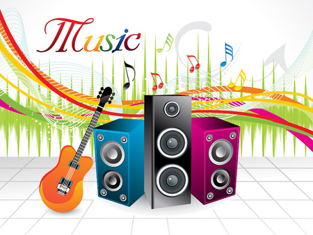abstract artistic musical background vector illustration Vector