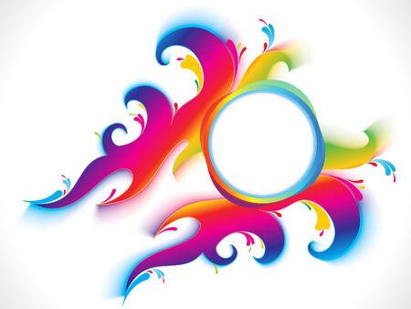 rainbow circle: abstract colorful artistic rainbow circle background vector illustration Illustration