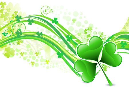 patric day: abstract artistic st patrick wave background vector illustration